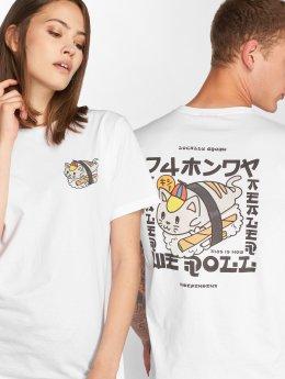 Tealer T-skjorter Sushi Cat hvit