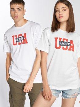 Tealer T-skjorter USA Logo hvit