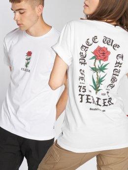 Tealer T-skjorter In Peace We Trust hvit