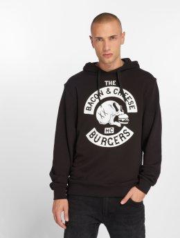The Dudes Hoody Bacon Cheese Burgers zwart