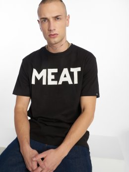 The Dudes t-shirt Meat zwart