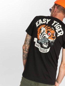 The Dudes T-skjorter Easy Tiger svart