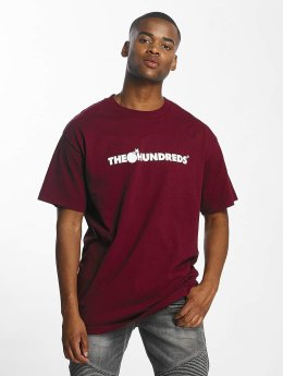 The Hundreds T-Shirt Forever Bar Logo rouge