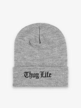 Thug Life Basic Beanie Basic Old Englisch grijs
