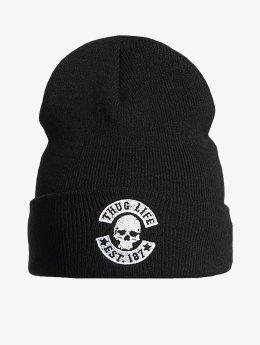 Thug Life Basic Beanie Basic Skull  schwarz