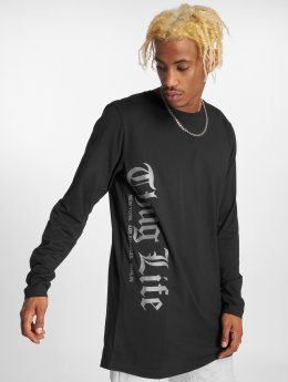 Thug Life Basic Camiseta de manga larga Basic Old English negro