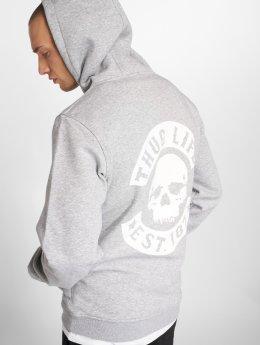 Thug Life Basic Hoodies Basic Skull šedá