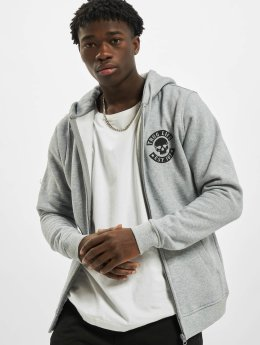 Thug Life Basic Hoodies con zip Skull grigio