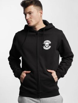 Thug Life Basic Hoodies con zip Skull nero