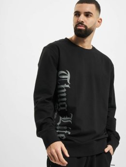 Thug Life Basic Pullover Old Engish schwarz