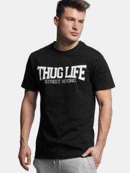 Thug Life Basic T-Shirt Street Boxing noir