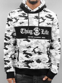 Thug Life Bluzy z kapturem Ragthug bialy