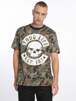 Thug Life Camiseta B. Camo camuflaje