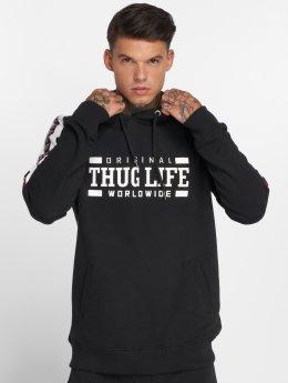Thug Life Hoodie Python svart