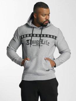 Thug Life Hoody Burn grau