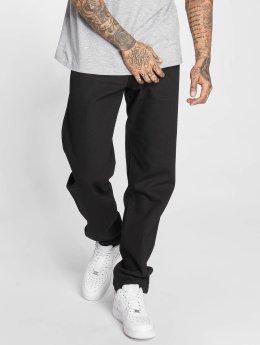 Thug Life Jean large coupe droite B . Denim noir