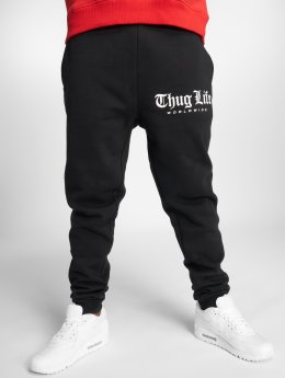 Thug Life joggingbroek Digital zwart