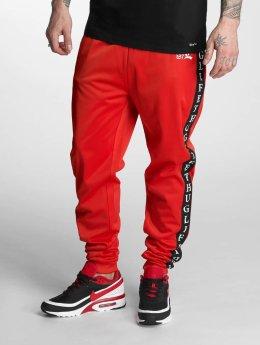 Thug Life Jogginghose Two Stripes rot