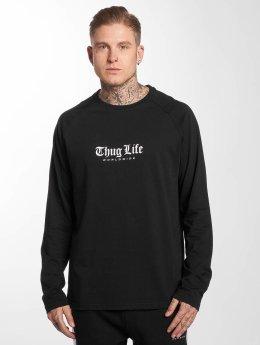 Thug Life Pitkähihaiset paidat Street musta