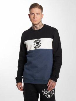 Thug Life Pullover Lion blau