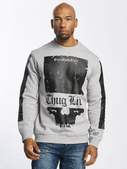 Thug Life Pullover Blind grau
