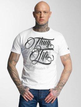 Thug Life T-paidat 187 valkoinen