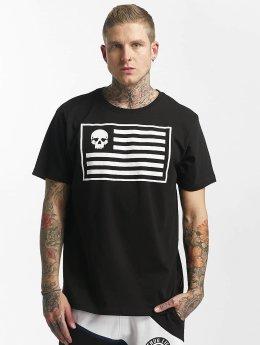 Thug Life T-Shirt Flag noir