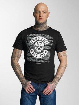 Thug Life t-shirt 187 zwart
