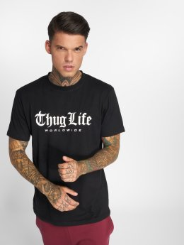 Thug Life t-shirt Digital zwart