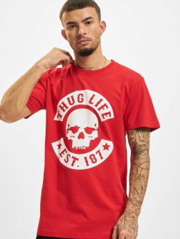 Thug Life T-Shirty B.Skull czerwony