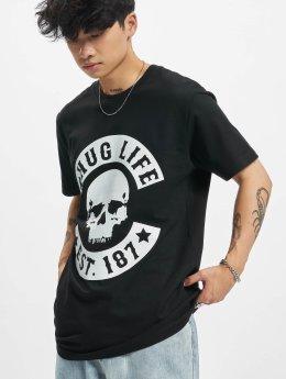 Thug Life T-skjorter B.Skull svart