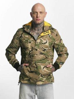 Thug Life Threat Jacket Green Camouflage