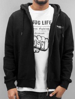Thug Life Zip Hoodie Angle Life black