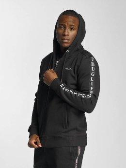 Thug Life Zip Hoodie Wired black