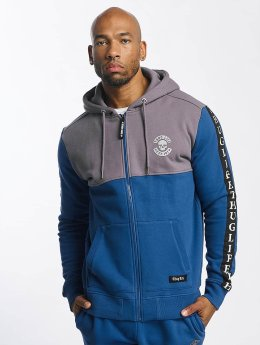 Thug Life Zip Hoodie Wired blau