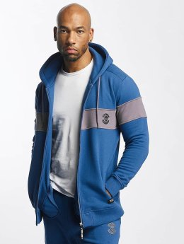 Thug Life Zip Hoodie Bar  blue
