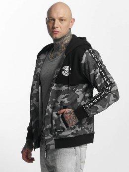 Thug Life Zip Hoodie Wired grau