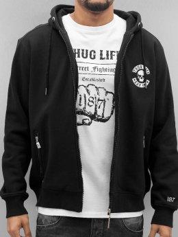 Thug Life Zip Hoodie Base Est schwarz