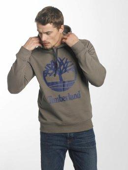 Timberland Bluzy z kapturem Stacked Logo brazowy
