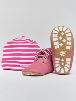 Timberland Støvler Crib Booties With Hat lyserosa
