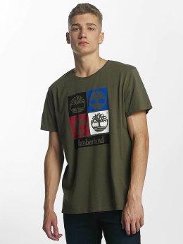 Timberland T-paidat 90'S Logo oliivi