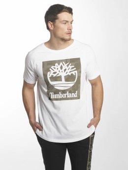 Timberland T-shirt Camo Logo Linear And Tree bianco
