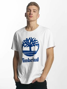 Timberland T-Shirt Linear Basic Stacked blanc