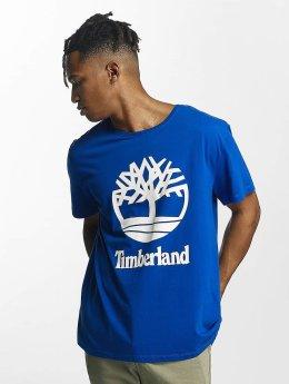 Timberland T-Shirt Linear Basic Stacked blau