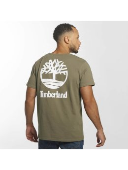 Timberland T-Shirt Stacked Logo brown