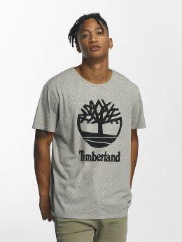Timberland T-Shirt Linear Basic Stacked grau