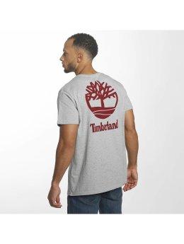 Timberland T-Shirt Stacked Logo grau