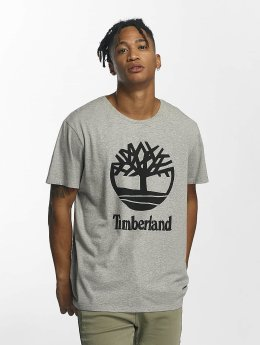 Timberland t-shirt Linear Basic Stacked grijs