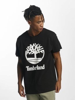 Timberland T-Shirt Linear Basic Stacked schwarz