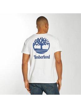 Timberland T-Shirt Stacked Logo weiß
